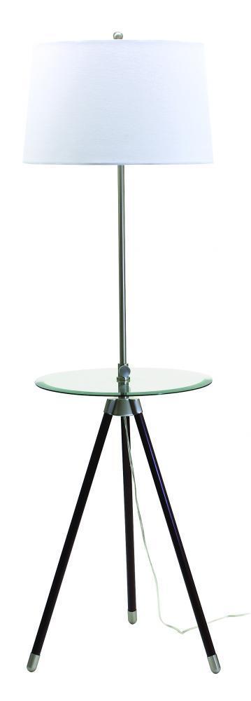 Tripod Adjustable Floor Lamp with Glass Table