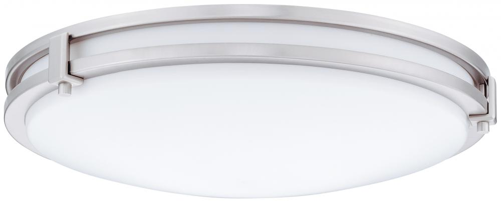 Saturn 16 in. Brushed Nickel Compact Fluorescent Flush/Semi-Flush Mount
