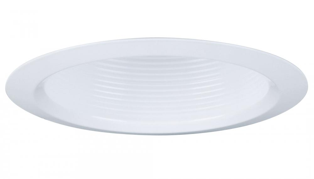 4 in. White Deep Baffle Finishing Trim with Narrow Flange (12 pack)