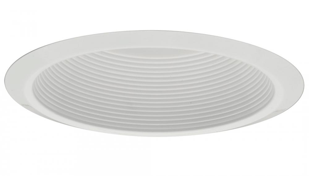 5 in. White Shallow Baffle Finishing Trim with Narrow Flange (12 pack)