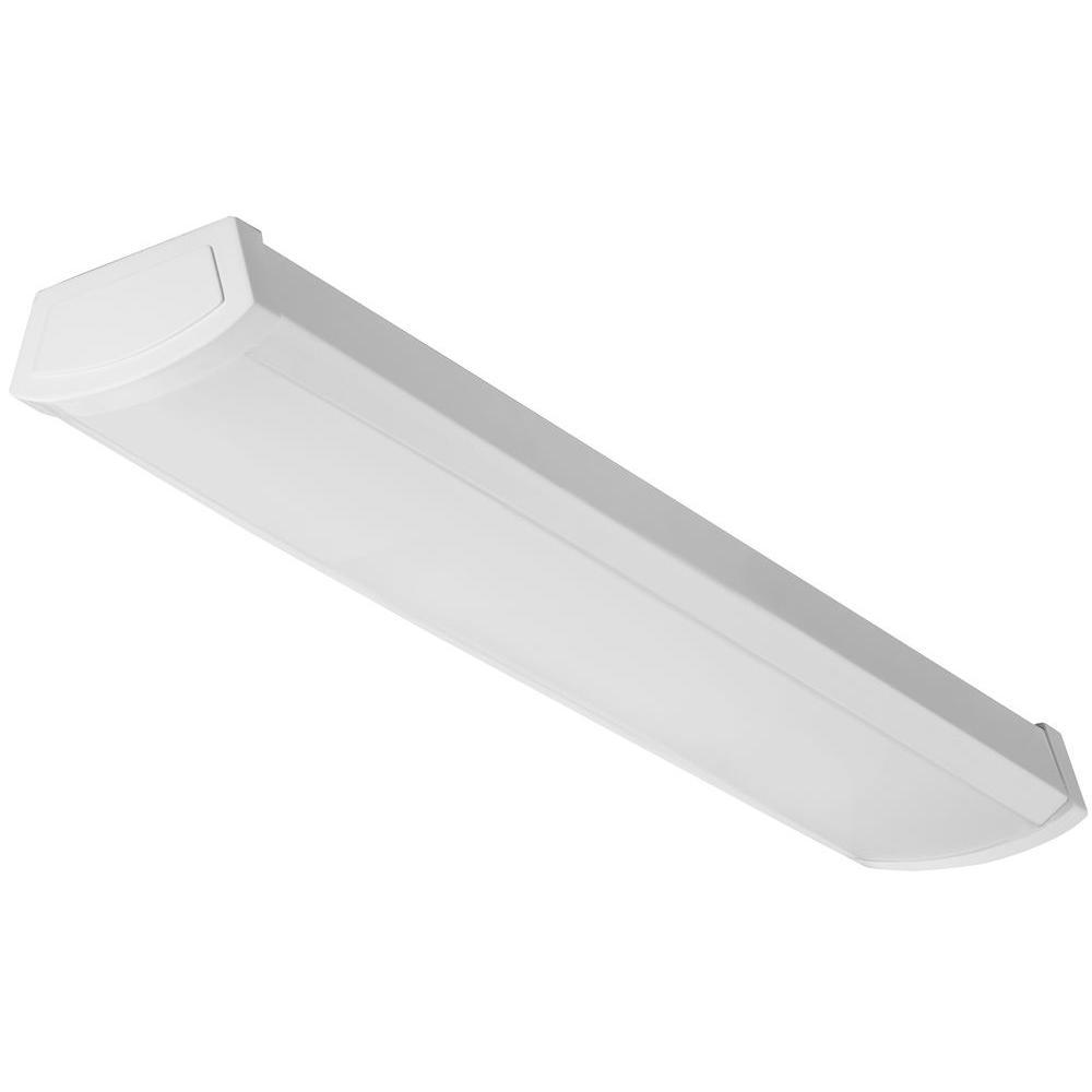 2 ft. White 4000K LED Linear Flush Mount Wraparound