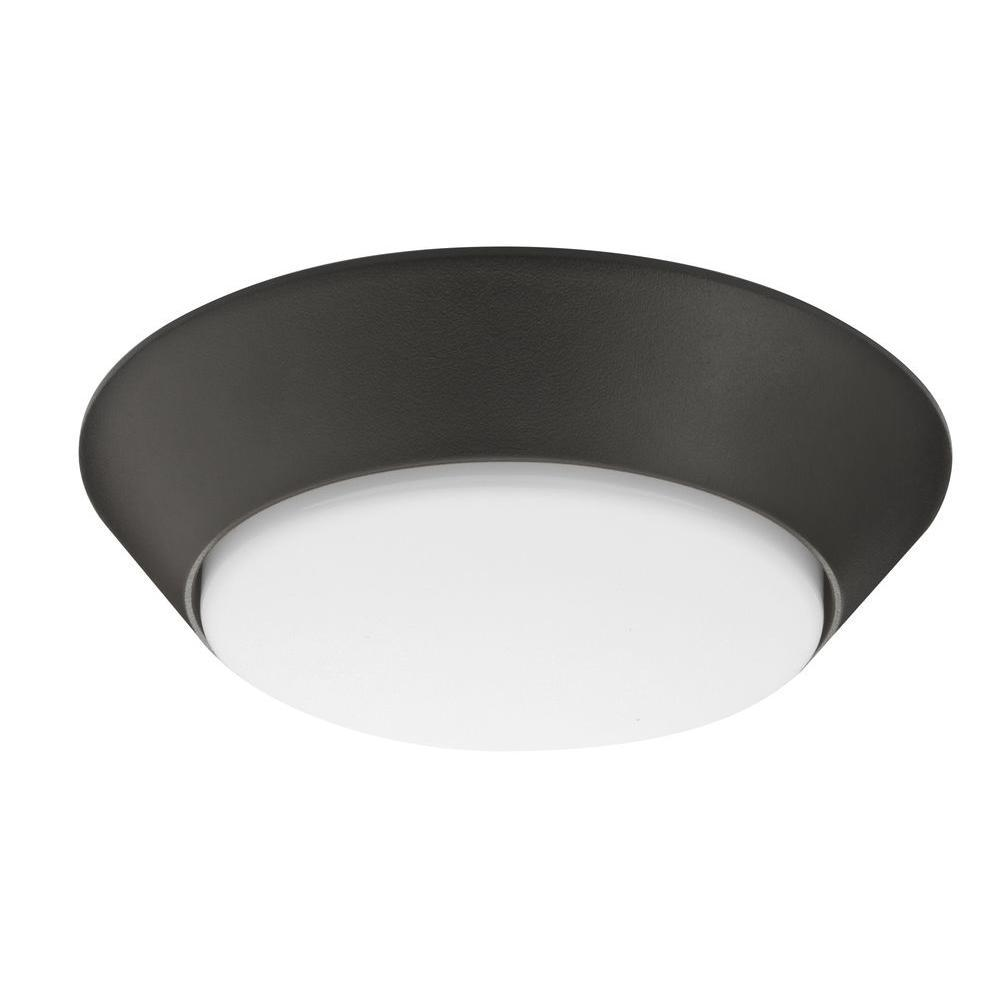 Versi Lite 7 in. Bronze 4000K LED Flush Mount