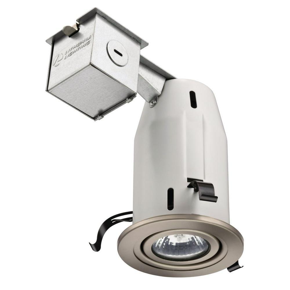 3 in brushed nickel 3000k led gimbal recessed lighting kit 4zklf brushed nickel 3000k led gimbal recessed lighting kit mozeypictures Images