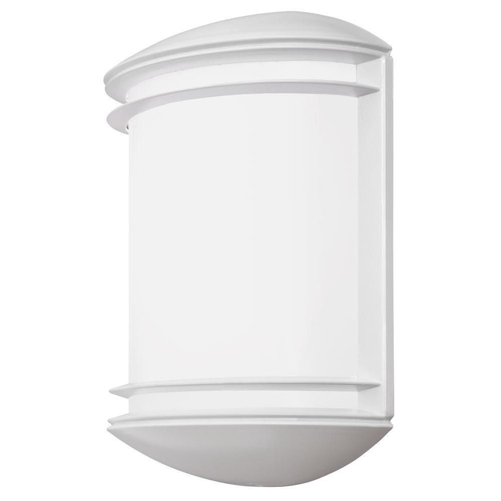 Outdoor White 4000K LED Wall-Mount Decorative Cast Sconce