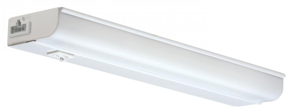 12 in. White T5 Fluorescent Linkable Cabinet Light